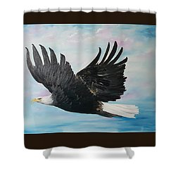 Eagle On A Mission      11 Shower Curtain