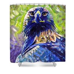 Eagle On Alert Shower Curtain