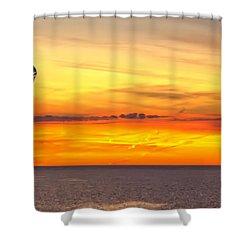Eagle Panorama Sunset Shower Curtain
