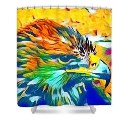 Eagle Pop Art 1 Shower Curtain