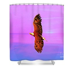 Shower Curtain featuring the painting Eagle Series Painterly by Deborah Benoit