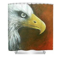 Eagle Spirit - Strength Shower Curtain by Jane See