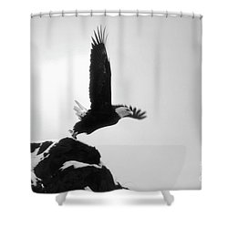 Eagle Takeoff At Adak, Alaska Shower Curtain
