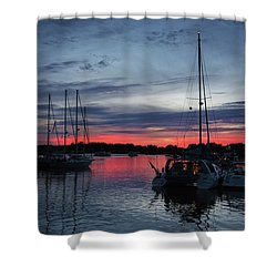 Eagles Cove Sunset Shower Curtain