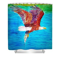 Eagle's Lunch Shower Curtain