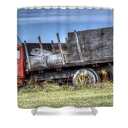 Shower Curtain featuring the photograph Earl Latsha Lumber Company - Version 1 by Shelley Neff