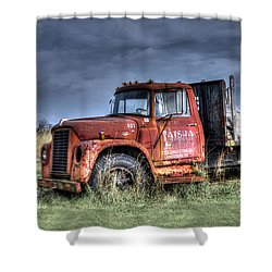Shower Curtain featuring the photograph Earl Latsha Lumber Company Version 2  by Shelley Neff