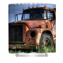 Shower Curtain featuring the photograph Earl Latsha Lumber Company Version 3 by Shelley Neff