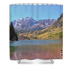 Early Autumn At The Bells Shower Curtain by Margaret Bobb