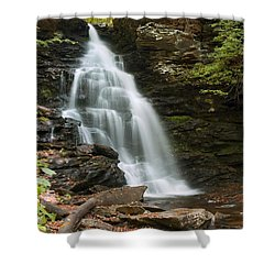 Early Autumn Morning Below Ozone Falls Shower Curtain by Gene Walls