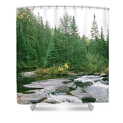 Early Autumn On The Madawaska River Shower Curtain