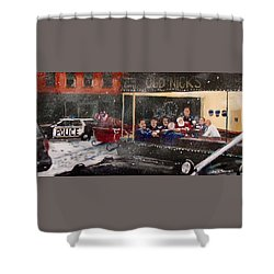 Early Christmas Morning Coffee Shower Curtain