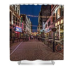 Early Evening On E. 4th Shower Curtain by Brent Durken