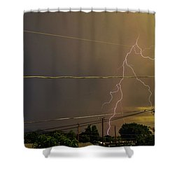 Early Evening Storm Shower Curtain