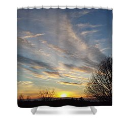 Early Evening Shower Curtain
