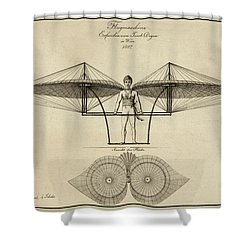 Early Flight Shower Curtain