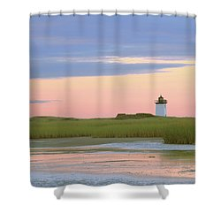 Early Light At Wood End Light Shower Curtain by Roupen  Baker