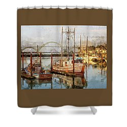 Early Light On Yaquina Bay Shower Curtain