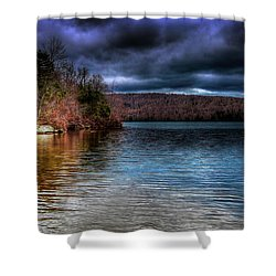 Shower Curtain featuring the photograph Early May On Limekiln Lake by David Patterson
