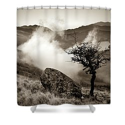 Early Mist, Nant Gwynant Shower Curtain