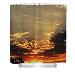 Early Morning Adrenaline Rush Shower Curtain