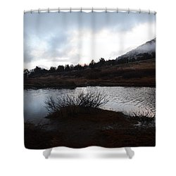 Early Morning At Favre Lake Shower Curtain