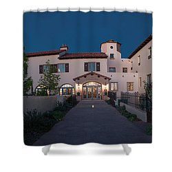 Early Morning At La Posada Shower Curtain by Charles Ables