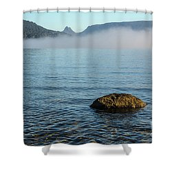 Shower Curtain featuring the photograph Early Morning At Lake St Clair by Werner Padarin