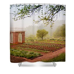 Early Morning At Monticello Shower Curtain