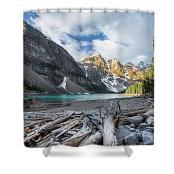 Early Morning At Moraine Lake Shower Curtain