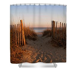 Early Morning At Myrtle Beach Sc Shower Curtain by Susanne Van Hulst