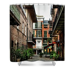 Early Morning At Pirate Alley Shower Curtain