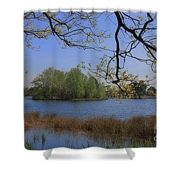 Early Morning At The Lake Shower Curtain