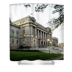 Early Morning At The Library Of Congress Shower Curtain