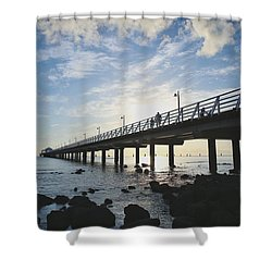 Early Morning At The Pier Shower Curtain