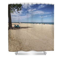 Early Morning Beach Shower Curtain