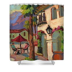 Early Morning Coffee At Old Town La Quinta Shower Curtain