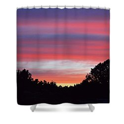 Early Morning Color Shower Curtain