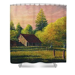 Early Morning Farm Shower Curtain