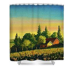Early Morning Farmhouse Shower Curtain