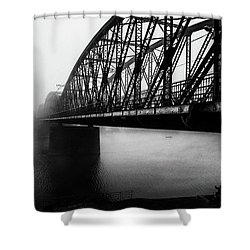 Early Morning Fishermen Shower Curtain