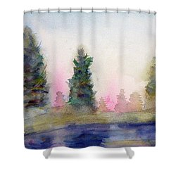 Early Morning Forest Shower Curtain