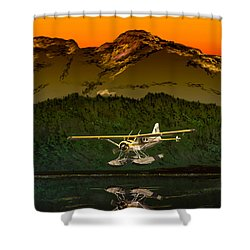 Early Morning Glass Shower Curtain by J Griff Griffin