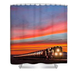 Early Morning Haul Shower Curtain by Todd Klassy