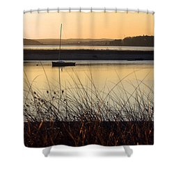 Early Morning Haze Shower Curtain