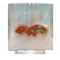 Early Morning Herd Shower Curtain by Frances Marino