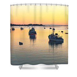 Early Morning In Chatham Harbor Shower Curtain by Roupen  Baker