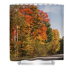 Early Morning In Door County Shower Curtain by Sandra Bronstein
