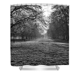 Early Morning In Hyde Park 16x20 Shower Curtain