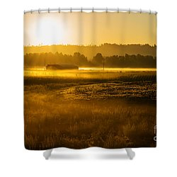 Early Morning In The Valley Shower Curtain